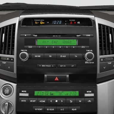 Radio and CD player with WMA and MP3 capabilities