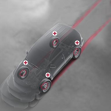 """Système de freinage antiblocage """"Multi-terrain"""" (ABS)"""