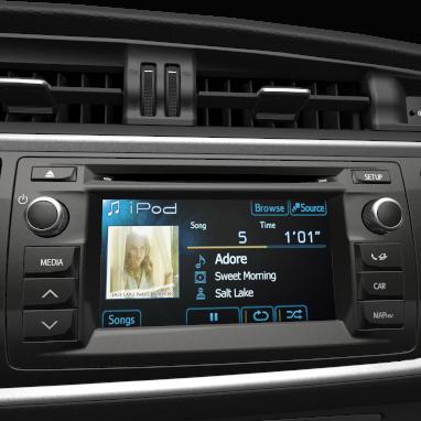 "Multimedia-Audiosystem ""Toyota Touch"" mit Rückfahrkamera:"