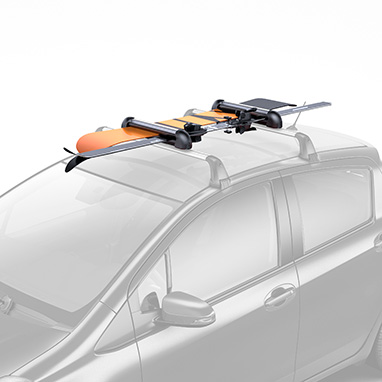 <p>The holder installs easily and lock securely onto your roof rack so you can quickly load skis and snowboards whenever the inspiration takes you. <br /><br />Medium size holder <br />4 pairs of skis or 2 snowboards <br /><br />Features <br />*Skis secured between soft rubber for grip and to prevent damage.<br />*Central locking system for maximum security. <br />*Push release for easy opening with gloved hands. </p><br><br><em>Price includes VAT, but excludes fitting. A fitting service is available at additional cost at your local Toyota Centre if required.</em>