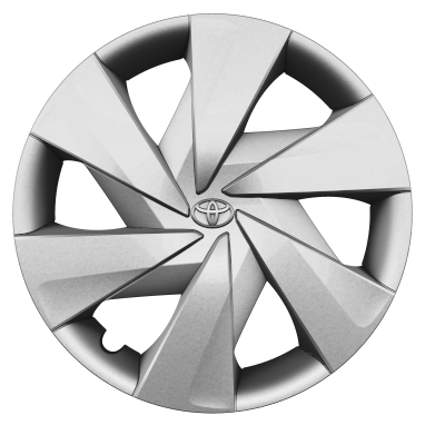 "15"" steel wheels with wheel caps (6-spoke)"