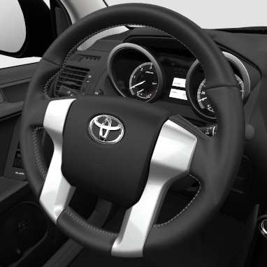 4-spoke leather steering wheel