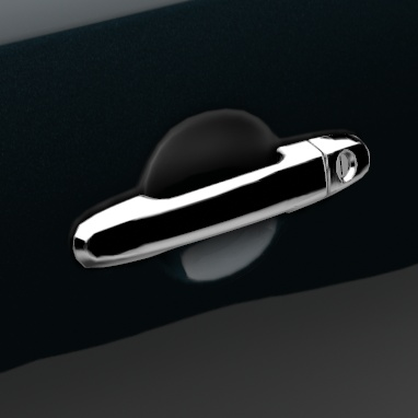 Door handles: chrome