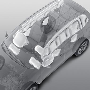 Airbags protège-genoux avant, conducteur et passager