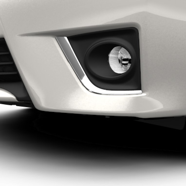 Chrome surround on front fog lamps