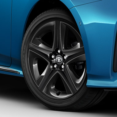 Alloy inserts available in black to complement your original Toyota alloy wheels.