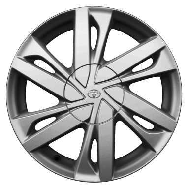 "15"" silver alloy wheels (6 double-spoke)"