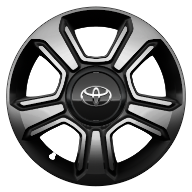 "15"" black machined-face alloy wheels (5-spoke)"