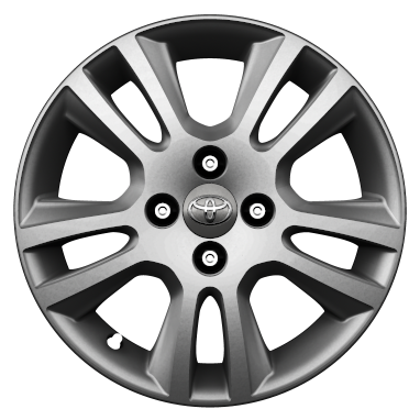 "15"" colour-customisable alloy wheels (5 double-spoke)"