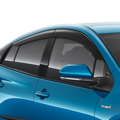 Aerodynamically shaped to reduce in-cabin wind noise and buffering when driving with open windows. For the front and rear side windows.